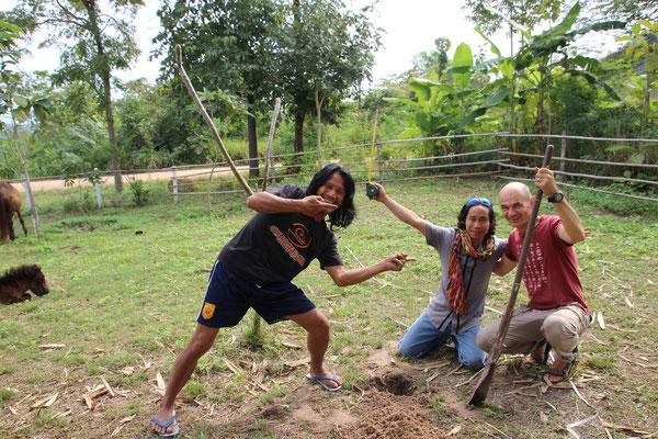 Hier entsteht ein Backpackerhaus für die Volontiers der Tierfarm in Suanphung