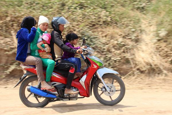 Familienausflug Kampong Cham, Kambodscha