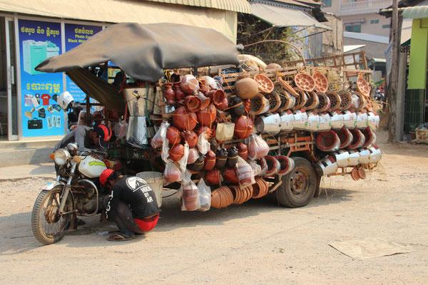Marktwagen Siem Reap, Kambodscha