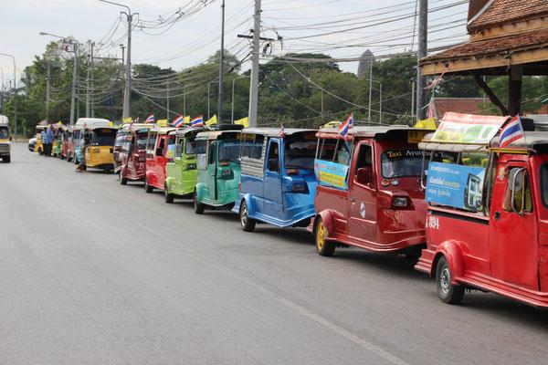 Ayutthaya-Taxis, Thailand