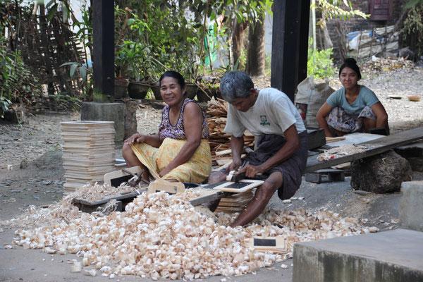 Herstellung von Schiefertafeln, Myanmar