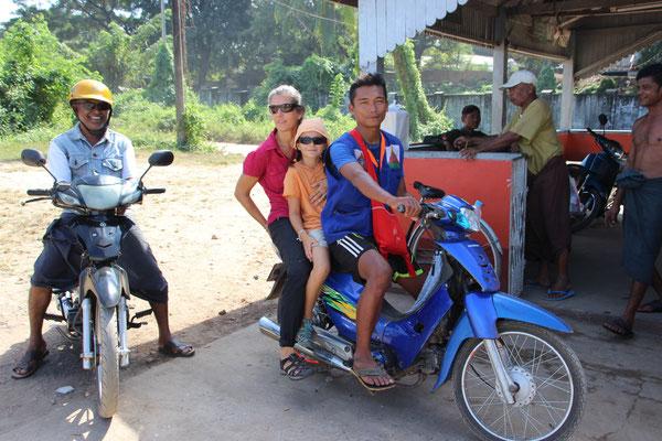 Unser Töfftaxi in Mawlamyne, Myanmar