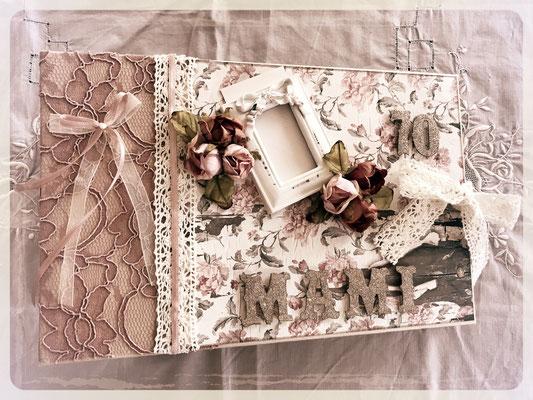 Geburtstags mini Album im Shabby/Vintage-Style