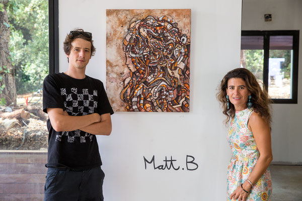 Matt.B & Gabrielle HB-Abada, curator of the exhibition