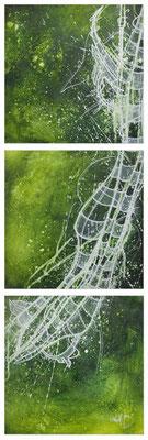 Acrylique sur toile // Triptyque 3x30/30 cm // 2007