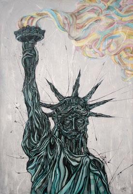 Enjoy America / acrylique & encres sur toile / 81x116cm / disponible