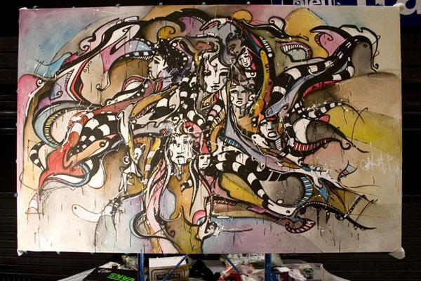 Live n°27 // Acrylique sur toile // 190/300 cm // 4h30