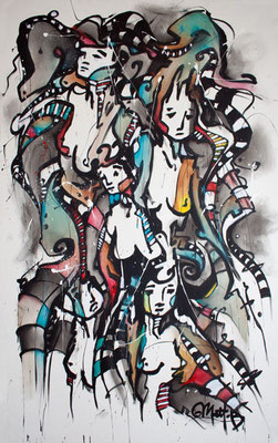 Live 38 // acrylique sur toile // 125/200 cm // 1h30