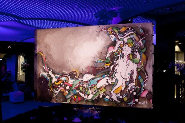 Live 61 // acrylique sur toile // 190/300 cm // 1h45 min