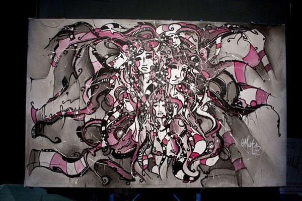 Live n°21 // Acrylique sur toile // 190/300 cm // 3h30