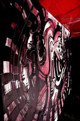 Live n°01 // Acrylique sur toile // 190/300 cm // 4h