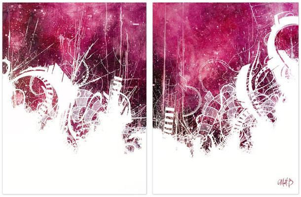 Acrylique sur toile // Diptyque 2x60/81 cm // 2007