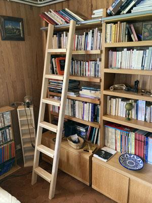 Echelle de bibliothèque en Frêne
