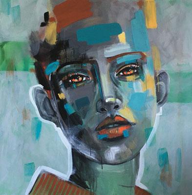 Acryl auf Leinwand   Titel: Weitblick   Größe 80 x 80