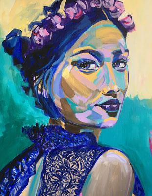VERKAUFT   Acryl auf Leinwand   Titel: Frida III   Größe 80 x 100