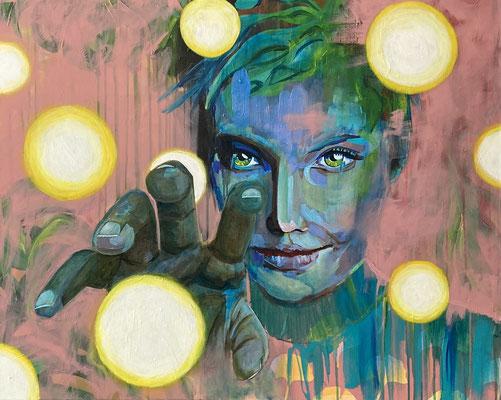 Acryl auf Leinwand  Titel: Lichtblicke einfangen   Bildgröße: 80 x 100