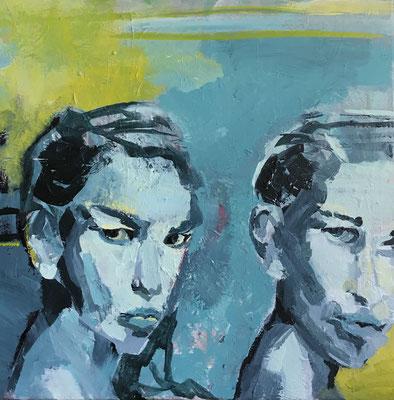 Acryl auf Leinwand   Titel: Duo   Größe 50 x 50