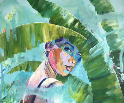 Acryl auf Leinwand   Titel: Summertime   Größe 120 x 100