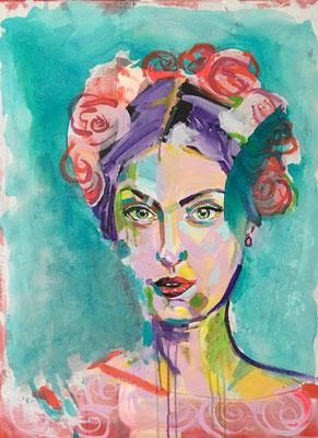 Acryl auf Leinwand   Titel: Frida I   Größe 60 x 80
