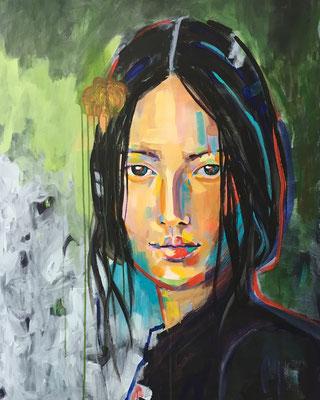 VERKAUFT   Acryl auf Leinwand   Titel: Frida IV   Größe: 80 x 80