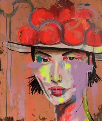 Acryl auf Leinwand   Titel: Schwarzwaldmädel II   Größe: 60 x 70