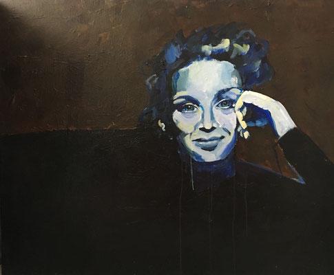Acryl auf Leinwand   Titel: Juliette   Größe 80 x 100