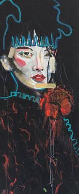 Acryl auf Leinwand  Titel: vertraut  Größe: 40 x 100