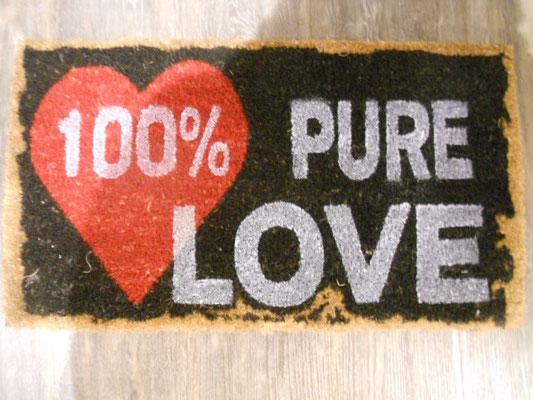 """Fußmatte Kokos """"Pure Love"""" 18,50€"""