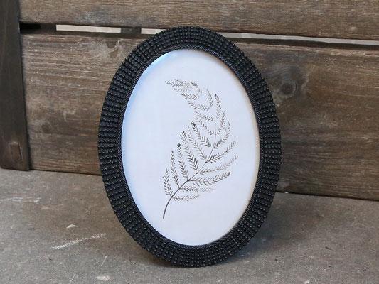 Bilderrahmen oval,schwarz H21/B16cm 22,90€