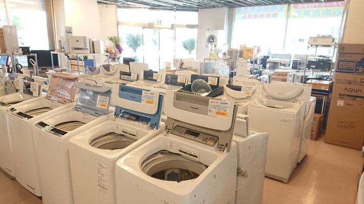 中古洗濯機コーナー札幌最大級