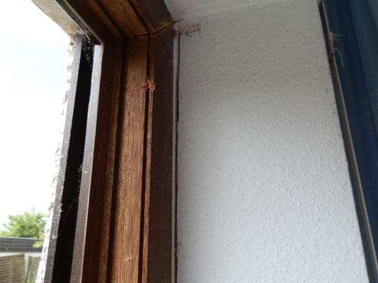 Einschnitt der Fensterfräse