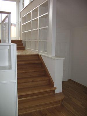 Einbauregal Galerie offen in Weißlack