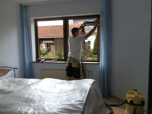 Ausbau mit der Fensterfräse mit Absaugung