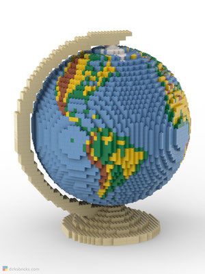 Dirks LEGO® Globe Premium with tan stand