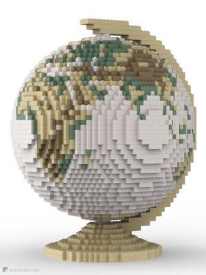 Dirks LEGO® Globe Antique front view