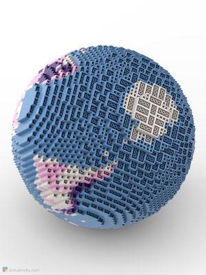 Dirks LEGO® Globe Friendly Feeling from below