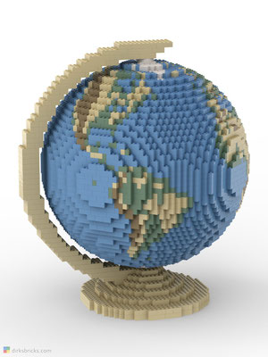 Dirks LEGO® Globe Smooth with tan stand