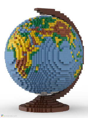 Dirks LEGO® Globe front view