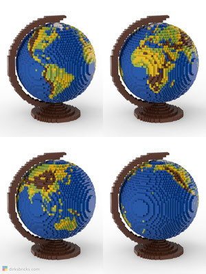 Dirks LEGO® Globe Original 4 sides