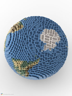 Dirks LEGO® Globe Smooth from below
