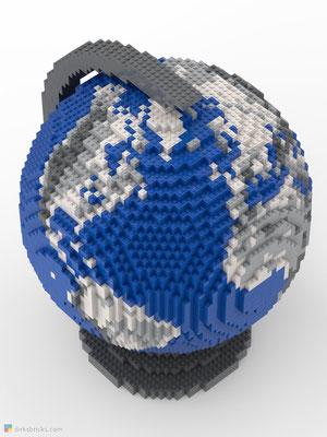 Dirks LEGO® Globe Metallic from above