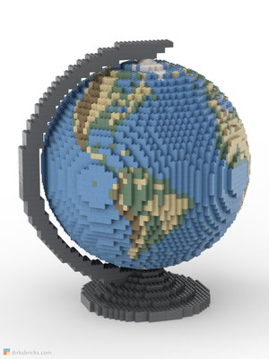 Dirks LEGO® Globe Smooth with dark bluish grey stand