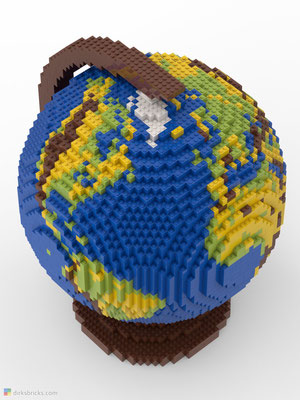 Dirks LEGO® Globe Original from above