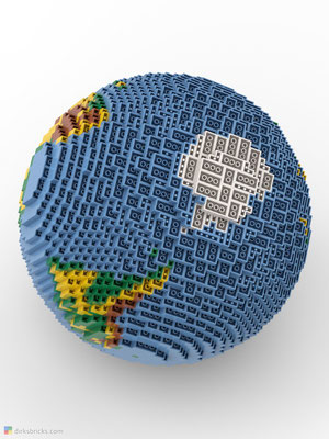 Dirks LEGO® Globe Premium from below