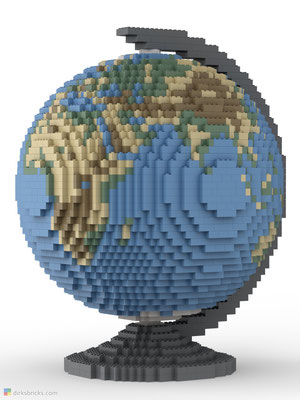 Dirks LEGO® Globe Smooth front view