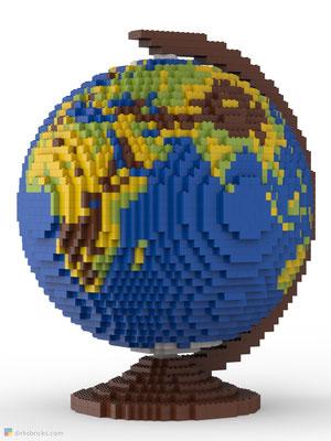 Dirks LEGO® Globe Original front view