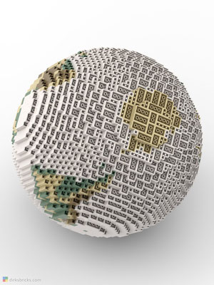 Dirks LEGO® Globe Antique from below