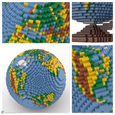 Dirks LEGO® Globe Details
