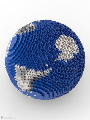 Dirks LEGO® Globe Metallic from below