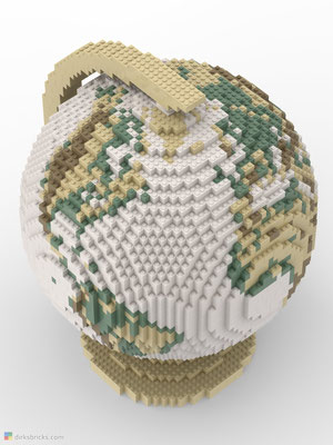 Dirks LEGO® Globe Antique from above